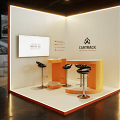 CARTRACK EXHIBITION STAND: Centros de congressos  por PreConceito