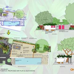 Entertaining Area Back Garden:  Garden by One Design Architectural Services
