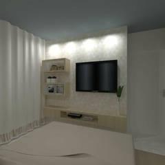 Apartamento AB: Quartos  por Studio Elabora,Moderno MDF