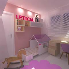 Apartamento AB: Quartos das meninas  por Studio Elabora