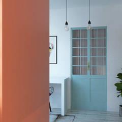 Casa Espejo: Pasillos y hall de entrada de estilo  por EnVoga