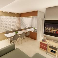 Apartamento CP: Salas de jantar ecléticas por Whill Barros Arquitetura e Design
