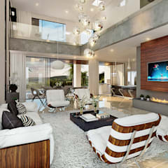 غرفة المعيشة تنفيذ Paulo Stocco Arquiteto