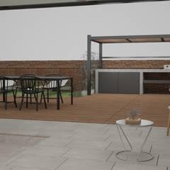 Visualización 3D reforma de piso ubicado en Barcelona.: Terrazas de estilo  de Ns Architect