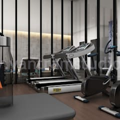 Home Gym Design Ideas & Picture by Yantram architectural design studio: modern Gym by Yantram Architectural Design Studio