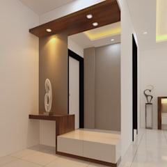 Lobby and bedroom:  Dressing room by Fuze Interiors