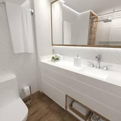 Apartamento AM: Banheiros  por Studio Elabora