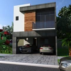 RESIDENCIA BAEZA: Casas unifamiliares de estilo  por OLLIN ARQUITECTURA