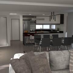 Estar comedor: Livings de estilo minimalista por BM3 Arquitectos