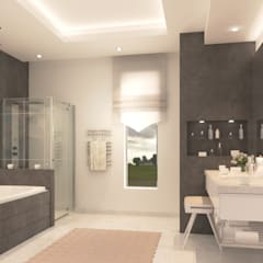 Minimalist design apartment:  Bathroom by dal design office