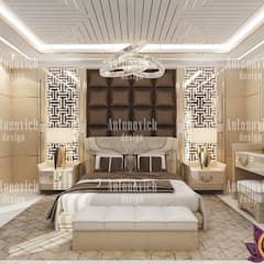 Perfect comfort in the interiors of Katrina Antonovich:  Bedroom by Luxury Antonovich Design
