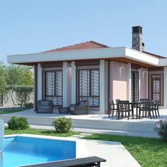 Dündar Design - Mimari Görselleştirme – Müstakil Ev:  tarz Evler