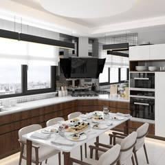 Dündar Design - Mimari Görselleştirme – Villa - İç Mekan:  tarz Mutfak