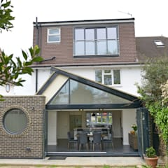 Kingston KT2 | Roof and kitchen house extension:  Houses by GOAStudio | London residential architecture