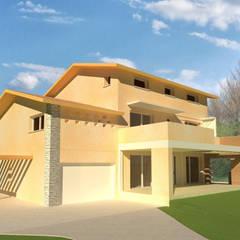 Prospetto sud-ovest: Casa unifamiliare in stile  di studio arch sara baggio