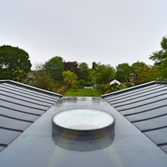 Architect designed residential extension Stoneleigh KT17 – View from Master Bedroom:  Roof by GOAStudio | London residential architecture