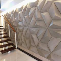 Casa MO : Paredes  por Efeito Arquitetura