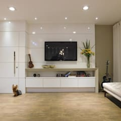 غرفة الميديا تنفيذ Efeito Arquitetura