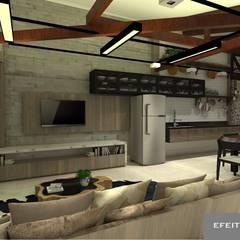 Espaço Gourmet AN: Cozinhas rústicas por Efeito Arquitetura