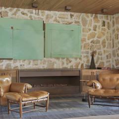 Espaço externo de estar: Salas de estar  por Patricia Martinez Arquitetura