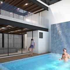 Projekty,  Dom szeregowy zaprojektowane przez LEGNO