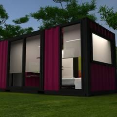 Next Container – Next Container - 20 F Otel Odaları:  tarz Prefabrik ev