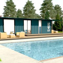 Next Container – Next Container - 40 Ft Suite Otel Odası:  tarz Prefabrik ev