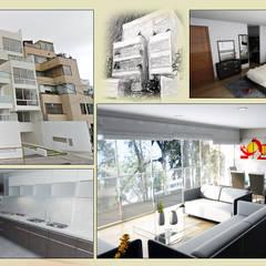VARIAS: Casas multifamiliares de estilo  por AREA - arquitectura y construcción
