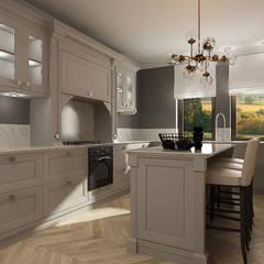 KUCHNIA JADALNIA No 012: styl , w kategorii Kuchnia na wymiar zaprojektowany przez Femberg Architektura Wnętrz