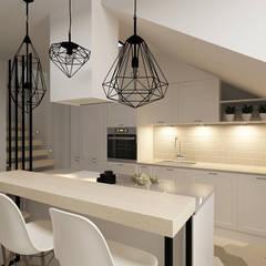 مطبخ ذو قطع مدمجة تنفيذ Femberg Architektura Wnętrz