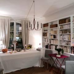 salle à manger : Locaux commerciaux & Magasins de style  par Desjoconception