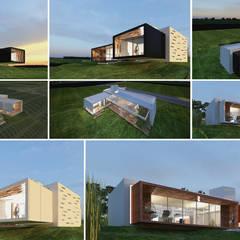 Exploración de Materialidad en Fachadas: Casas de estilo minimalista por síncresis arquitectos