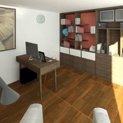 Estudio -Rancho San Juan: Estudios y oficinas de estilo  por Perfil Arquitectónico