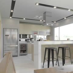 CASA RSP: Muebles de cocinas de estilo  por ARQSU, Arquitectura e Interiorismo