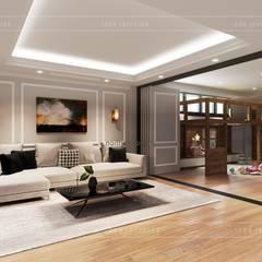 Thiết kế nội thất biệt thự 3 tầng sang trọng với phong cách hiện đại - ICON INTERIOR:  Phòng giải trí by ICON INTERIOR