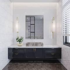 Thiết kế nội thất biệt thự 3 tầng sang trọng với phong cách hiện đại - ICON INTERIOR:  Phòng tắm by ICON INTERIOR