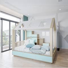 Thiết kế nội thất biệt thự 3 tầng sang trọng với phong cách hiện đại - ICON INTERIOR:  Phòng trẻ em by ICON INTERIOR,