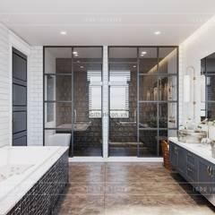 Thiết kế nội thất biệt thự 3 tầng sang trọng với phong cách hiện đại - ICON INTERIOR:  Phòng tắm by ICON INTERIOR, Hiện đại