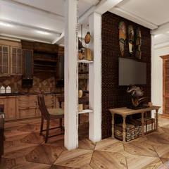 Студия дизайна Натали Хованской의  거실