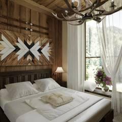 Комната в стиле шале: Спальни в . Автор – Студия дизайна Натали Хованской