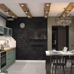 Дизайн интерьера кухни-гостиной по ул. Демьяна Бедного, 14 в Хабаровске: Кухни в . Автор – Студия дизайна интерьера L'grans