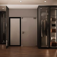 walk in wardrobe, home design Malaysia:  Dressing room by Norm designhaus