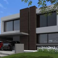 CASA H: Casas unifamiliares de estilo  por BM3 Arquitectos,Moderno