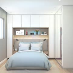 Dormitorios de estilo  por Artha Arquitetura