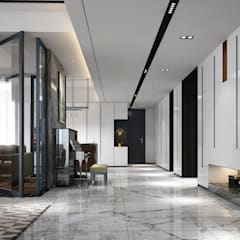 Penthouse:  Corridor & hallway by Norm designhaus