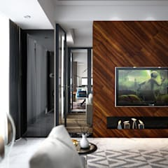 Penthouse:  Living room by Norm designhaus
