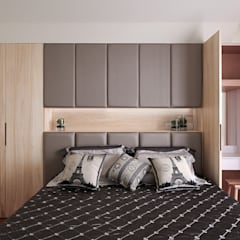 غرفة نوم تنفيذ 趙玲室內設計 , حداثي