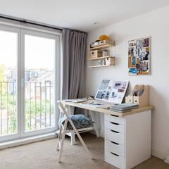 North West London Terraced House:  Study/office by VORBILD Architecture Ltd.