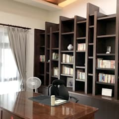 書房 書櫃 展示櫃 設計 :  書房/辦公室 by 艾莉森 空間設計