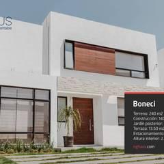 Boneci: Casas ecológicas de estilo  por iQbit, SA de CV